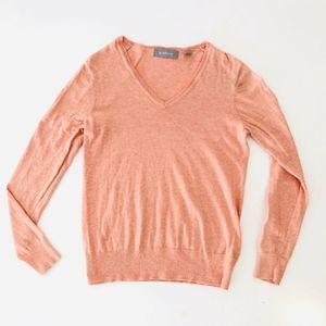 Liz Claiborne Sweater Pink Vneck Med